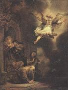 REMBRANDT Harmenszoon van Rijn The angel leaving Tobit and his family (mk33) oil painting picture wholesale