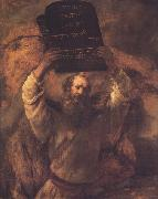 REMBRANDT Harmenszoon van Rijn Moses Breading the Tablets (mk33) oil painting picture wholesale