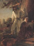 REMBRANDT Harmenszoon van Rijn Details of Christ appearing to Mary Magdalen (mk33) oil painting picture wholesale