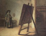 REMBRANDT Harmenszoon van Rijn The Artiest in his Studio (mk33) oil painting picture wholesale