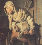 REMBRANDT Harmenszoon van Rijn Tobit and Anna with the Kid (mk33) oil painting picture wholesale