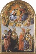 Sandro Botticelli Coronation of the Virgin,with Sts john the Evangelist,Augustine,jerome and Eligius or San Marco Altarpiece (mk36) oil painting picture wholesale