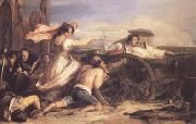 Sir David Wilkie The Defence of Saragossa (mk25) oil painting artist