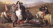 Sir Edwin Landseer Royal Sports on Hill and Loch (mk25 oil painting