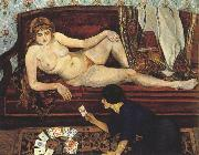 Suzanne Valadon Future Unveiled or The Fortune Teller (mk39) oil painting artist