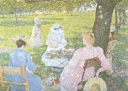 Theo Van Rysselberghe Family in an Orchard (nn02) oil painting picture wholesale