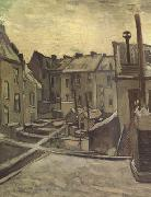 Vincent Van Gogh Backyards of Old Houses in Antwerp in the Snow (nn04) oil painting picture wholesale
