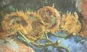 Vincent Van Gogh Four Cut Sunflowers (nn04) oil painting picture wholesale