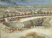 Vincent Van Gogh Outskirts of Paris near Montmartre (nn04) oil painting picture wholesale