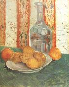 Vincent Van Gogh Still life with Decanter and Lemons on a Plate (nn04) oil painting picture wholesale