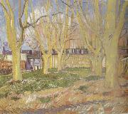 Vincent Van Gogh Avenue of Plane Trees near Arles Station (nn04) oil painting picture wholesale
