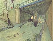 Vincent Van Gogh The Railway Bridge over Avenue Montmajour,Arles (nn04) oil painting picture wholesale