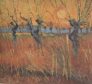 Vincent Van Gogh Willows at Sunset (nn04) oil painting picture wholesale