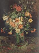 Vincent Van Gogh Vase with Zinnias and Geraniums (nn04) oil painting picture wholesale