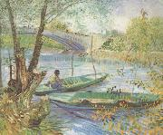 Vincent Van Gogh Fishing in the Spring,Pont de Clichy (nn04) oil painting picture wholesale