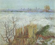 Vincent Van Gogh Snowy Landscape with Arles in the Background (nn04) oil painting picture wholesale
