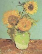 Vincent Van Gogh Three Sunflowers in a Vase (nn04) oil painting picture wholesale