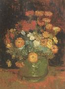 Vincent Van Gogh Vase with Zinnias (nn04) oil painting picture wholesale