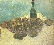 Vincent Van Gogh Still life:Bottle,Lemons and Oranges (nn04) oil painting picture wholesale