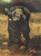 Vincent Van Gogh peasant Woman Digging (nn04) oil painting picture wholesale