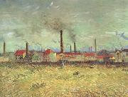 Vincent Van Gogh Factories at Asnieres Seen from the Quai de Clichy (nn04) oil painting picture wholesale