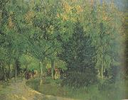 Vincent Van Gogh A Lane in the Public Garden at Arles (nn04) oil painting picture wholesale