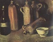 Vincent Van Gogh Still Life with Four Stone Bottles,Flask and White Cup (nn04) oil painting picture wholesale