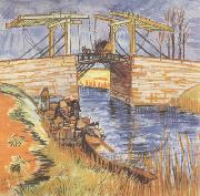 Vincent Van Gogh The Langlois Bridge at Arles (nn04) oil painting picture wholesale