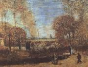 Vincent Van Gogh The Parsonage Garden at Nuenen with Pond and Figures (nn04) oil painting picture wholesale