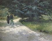 Vincent Van Gogh Public Garden with Couple and Blue Fir Tree :The Poet's Garden III (nn04) oil painting picture wholesale