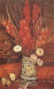 Vincent Van Gogh Vase with Red Gladioli (nn04) oil painting picture wholesale