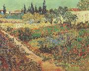 Vincent Van Gogh Flowering Garden with Path (nn04) oil painting picture wholesale