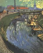 Vincent Van Gogh The Roubine du Roi Canal wtih Washerwomen (nn04) oil painting picture wholesale