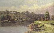 William henry mander A Stroll along the Riverbank (mk37) oil painting artist