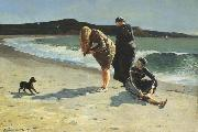 Winslow Homer Eaglehead,Manchester,Massachusetts (High Tide:The Bathers) (mk44) oil painting picture wholesale