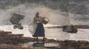 Winslow Homer Inside the Bay,Cullercoats (mk44) oil painting picture wholesale