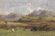 david farquharson,r.a.,a.r.s.a.,r.s.w Glenorchy's Prond Mountain (mk37) oil painting artist