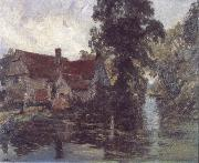 Albert Henry Fullwood Willy Lott's cottage oil painting