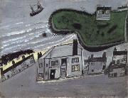 Alfred Wallis The Hold House Port Mear Square Island port Mear Beach oil painting artist