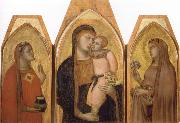 Ambrogio Lorenzetti Madonna and Child with Saints oil painting picture wholesale