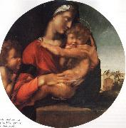 BERRUGUETE, Alonso Madonna and Child with the Young St.Fohn oil