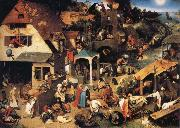 BRUEGHEL, Pieter the Younger Netherlandish Proverbs oil painting picture wholesale