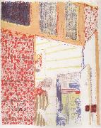Edouard Vuillard Interior with pink wallpaper III oil painting picture wholesale
