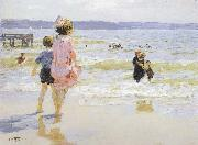 Edward Henry Potthast Prints At the Seashore oil painting artist