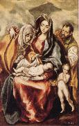 El Greco The Holy Family with St Anne and the Young St JohnBaptist oil painting picture wholesale