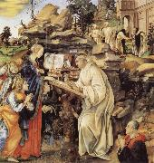 Fra Filippo Lippi The Vision of St Bernard oil painting picture wholesale