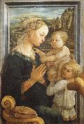Fra Filippo Lippi Madonna and Child with Two Angels oil painting picture wholesale
