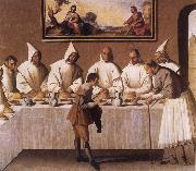 Francisco de Zurbaran St Hugo of Grenoble in the Carthusian Refectory oil painting picture wholesale