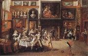 Frans Francken II Supper at the House of Burgomaster Rockox oil painting artist
