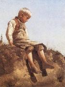 Franz von Lenbach Young Boy in the Sun oil painting artist